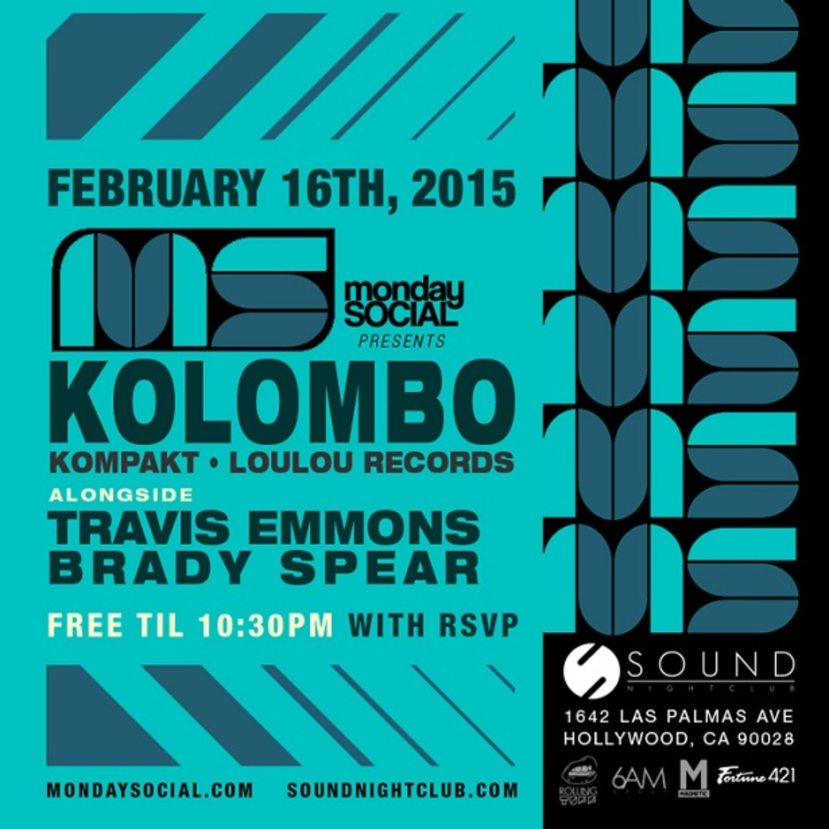 Kolombo (Loulou Records) at Monday Social - 2.16.2015