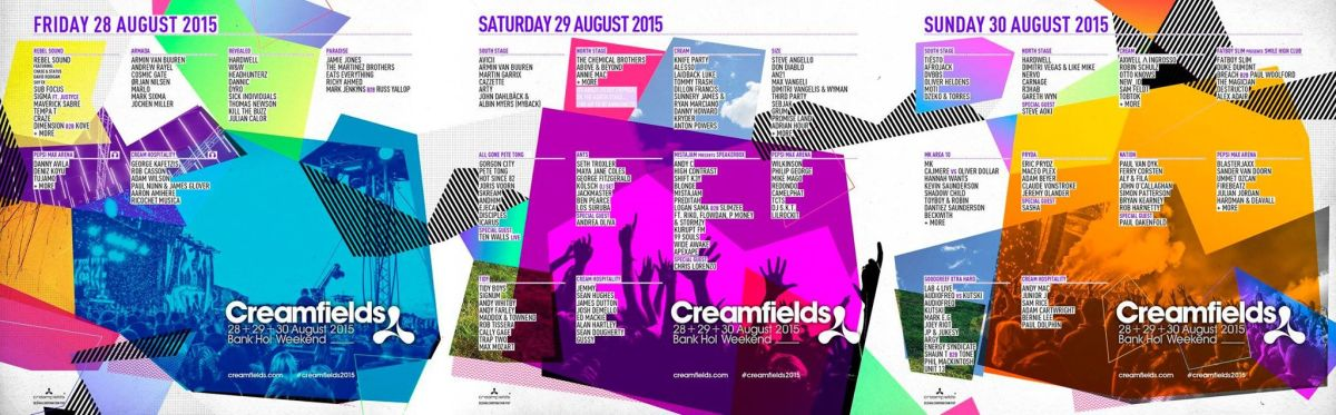 Creamfields Lineup So Big You Can't See It