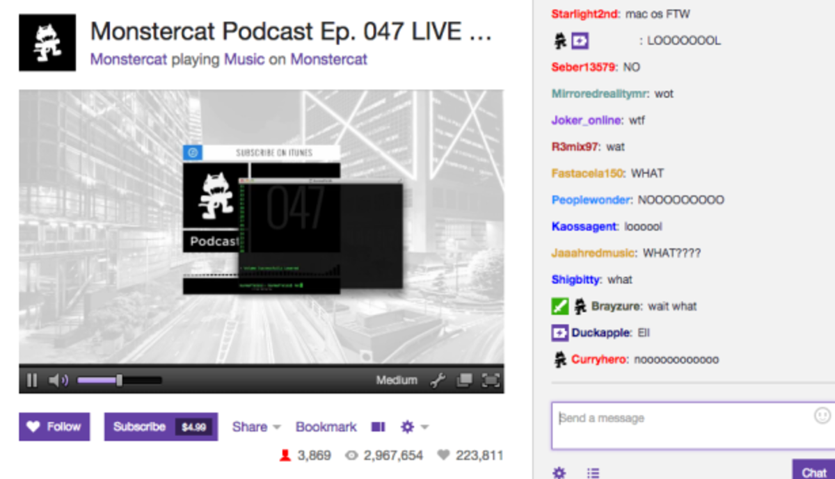 Monstercat Stream Hacked On Twitch?