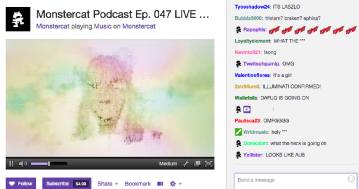 Monstercat Podcast Hacked On Twitch?