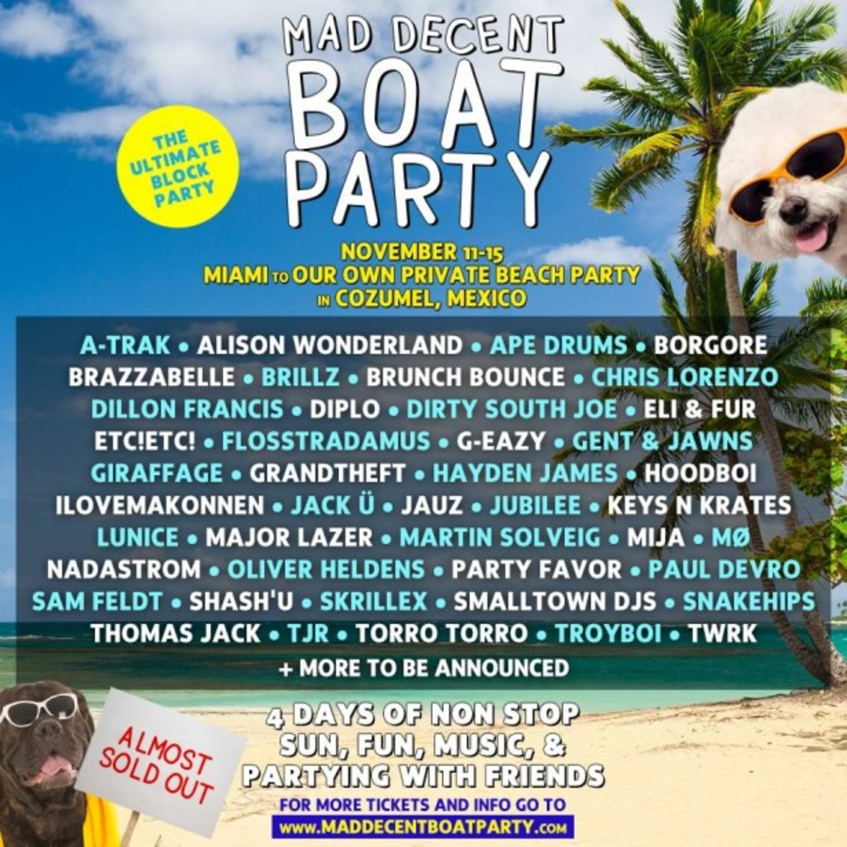 Mad Decent Boat Party Lineup Gets Weird