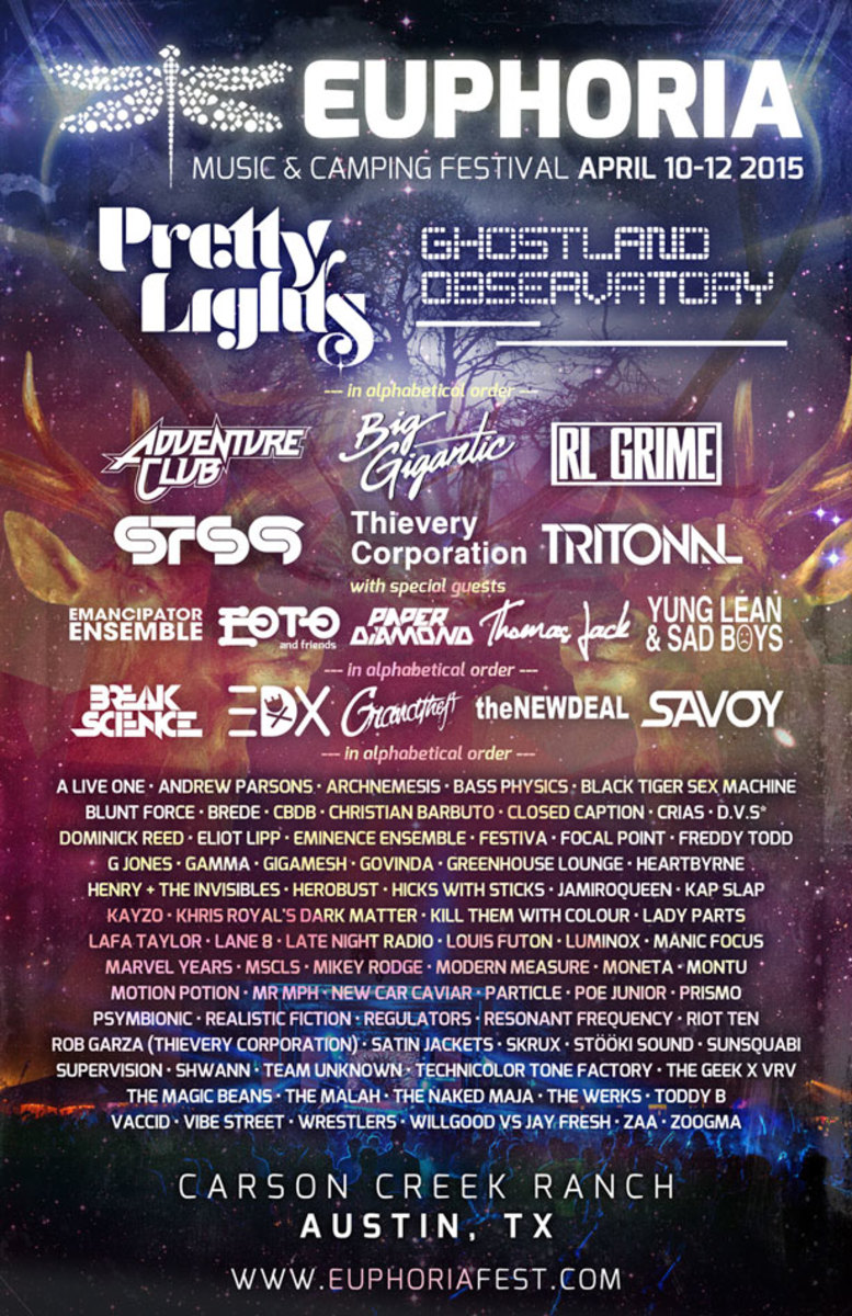 Austin's Euphoria Music Festival Announces More Artists