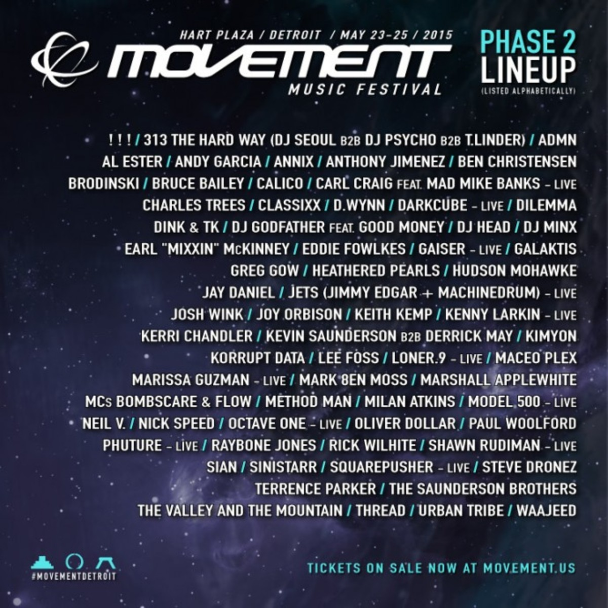 Movement Detroit Adds Rare Duo, Major Artists