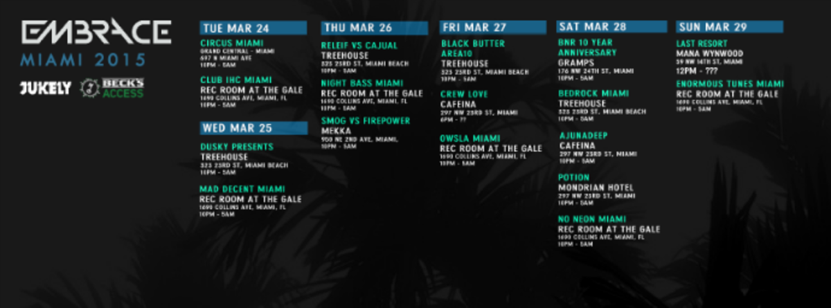 EMBRACE MIAMI Takes Over During Miami Music Week 2015