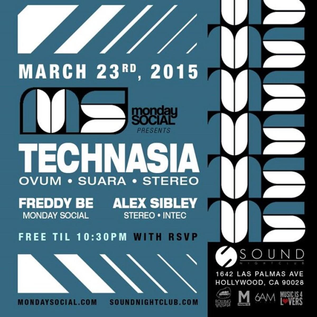 Monday Social Brings The Suara Heat on 3/23 & 3/30 with Technasia & Dosem!