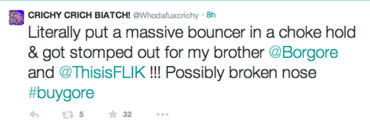 "Crichy Crich ""Got Stomped Out"" For Borgore In Fight"
