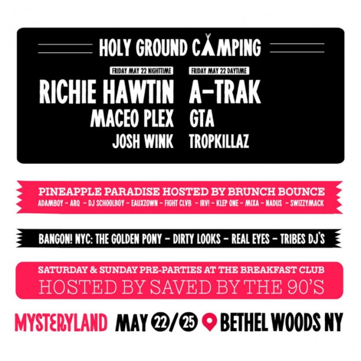 Richie Hawtin & A-Trak Headlining Parties On Woodstock Grounds