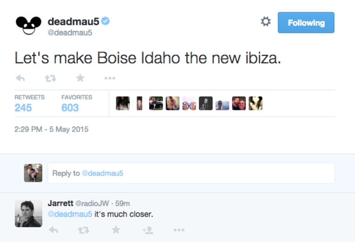 "Deamau5: ""Let's Make Boise Idaho The New Ibiza"""