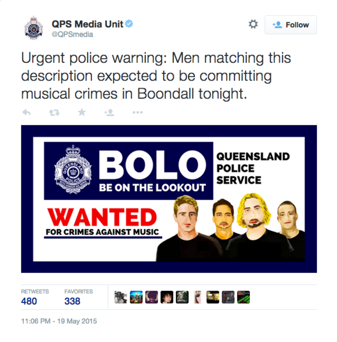 Australian Police Just Took Shots At Nickelback, And It's Hilarious
