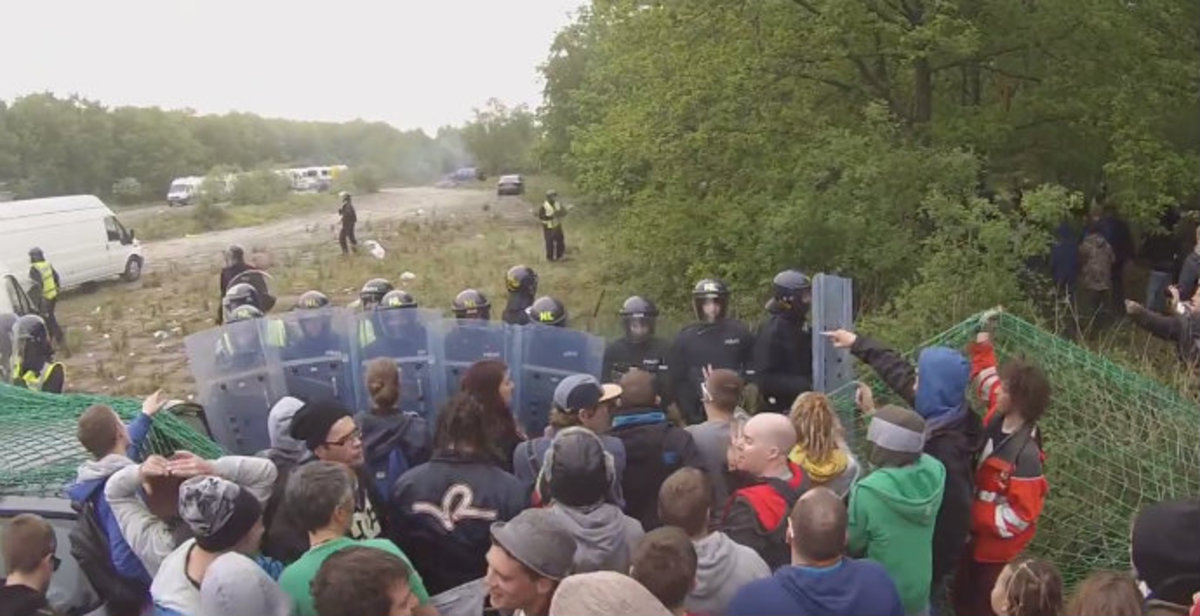 Rave In The Woods Turns Into Massive Riot (Video)
