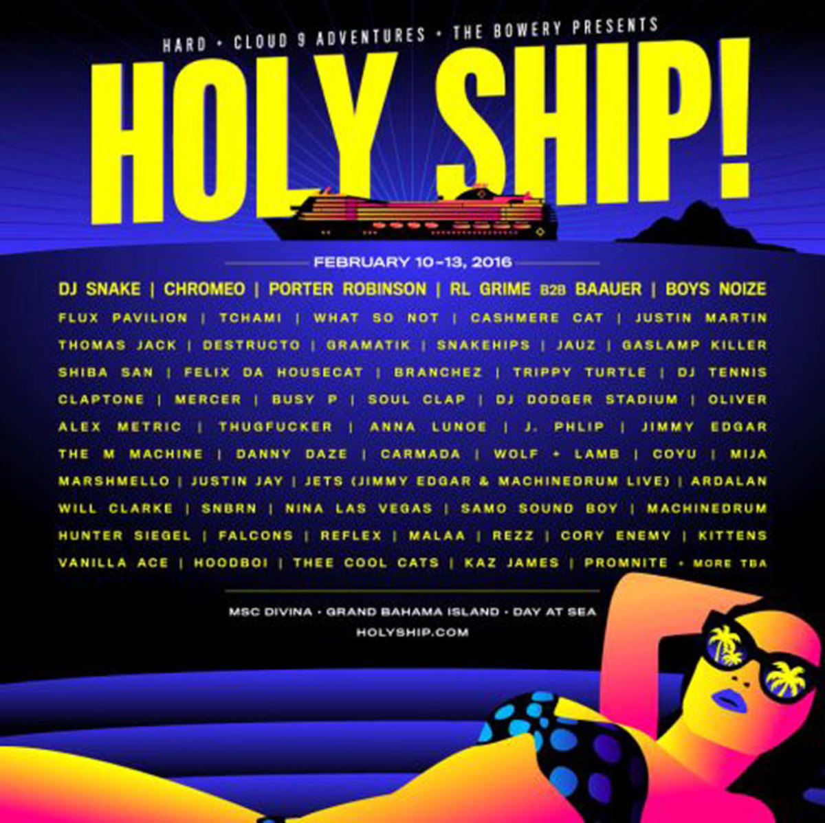 Holy Ship! Announces 2016 Line-Up