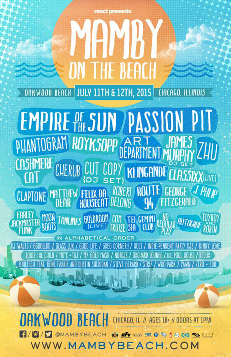 Event: Mamby on the Beach - July 11th & July 12th (Chicago)