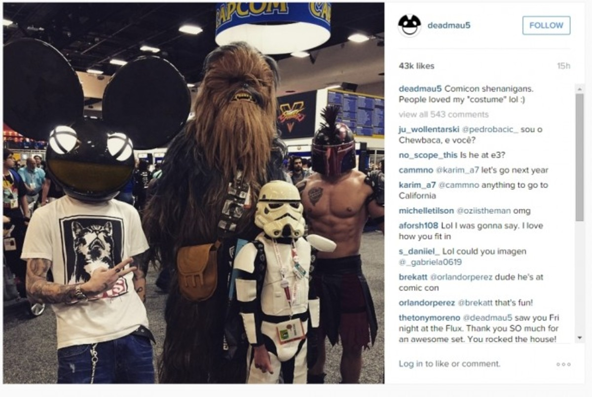 deadmau5 Gets His Nerd On At Comicon