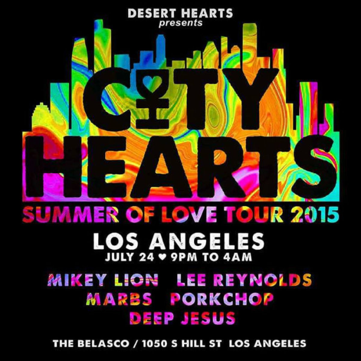 City Hearts LA 7/24 and an Exclusive Playlist From the Desert Hearts Crew