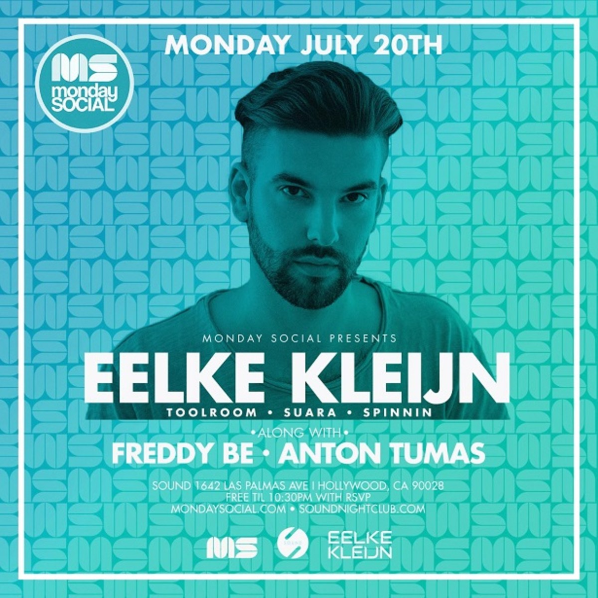 Rising Dutch Phenom Eelke Kleijn at Monday Social - 7.20.15