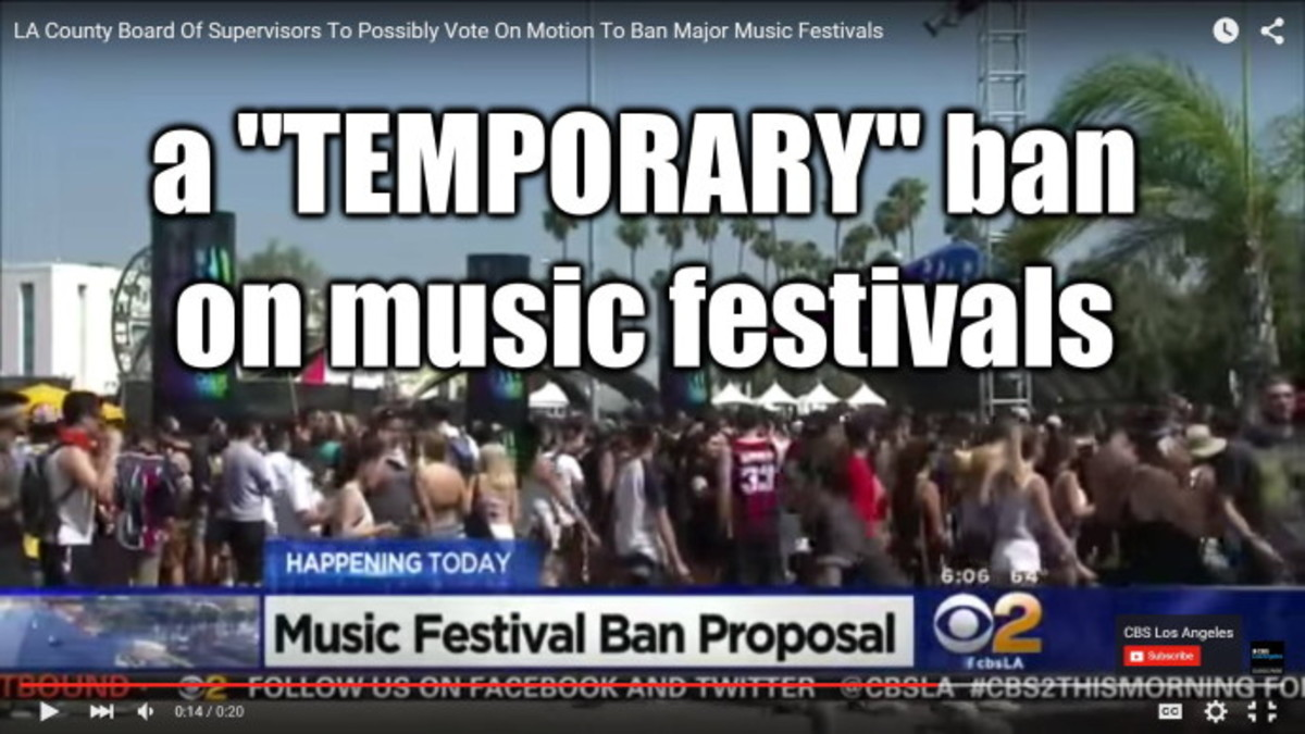 Everyone CALM DOWN About LA COUNTY BANNING Music Festivals - OpEd
