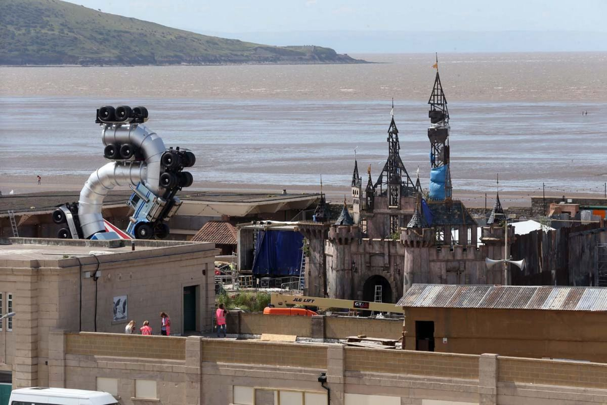 Dismaland above