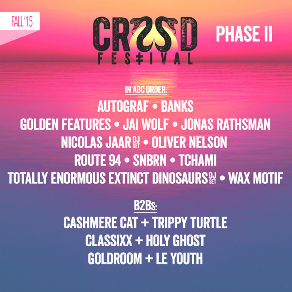 CRSSD Festival Announces Phase II Lineup
