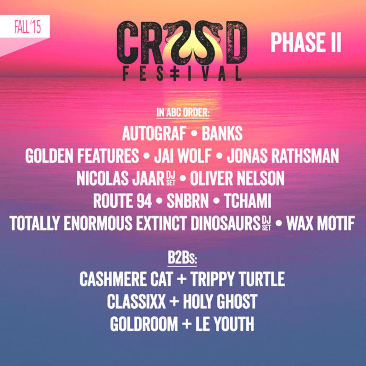 CRSSD Festival Announces Phase II Lineup