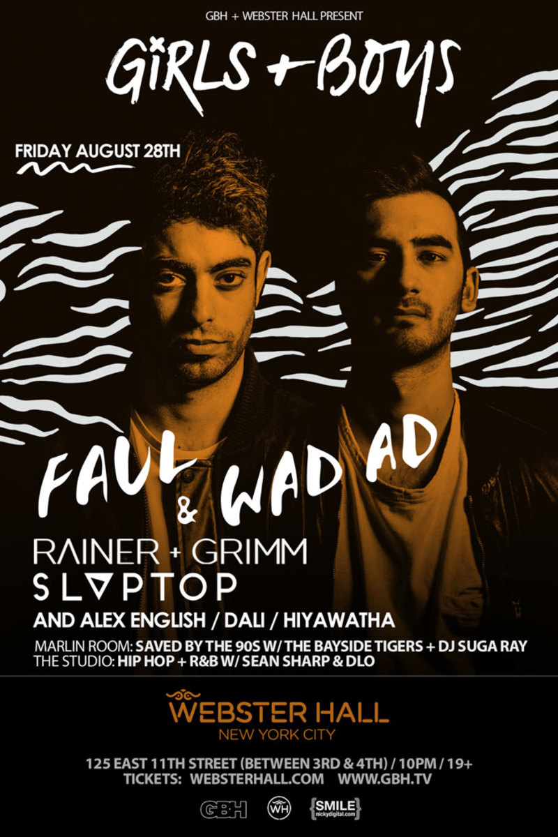 "Event Spotlight: This Week At Webster Hall NYC - Faul and Wad Ad & ""Life's A Beach"" Party"