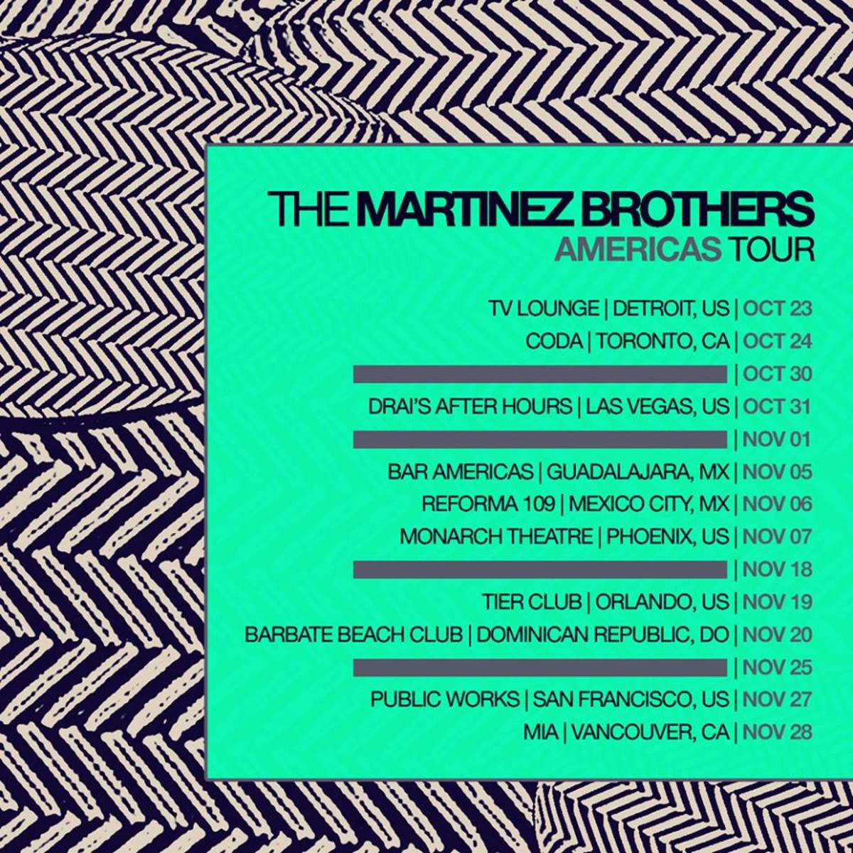 The Martinez Brothers Fall 2015