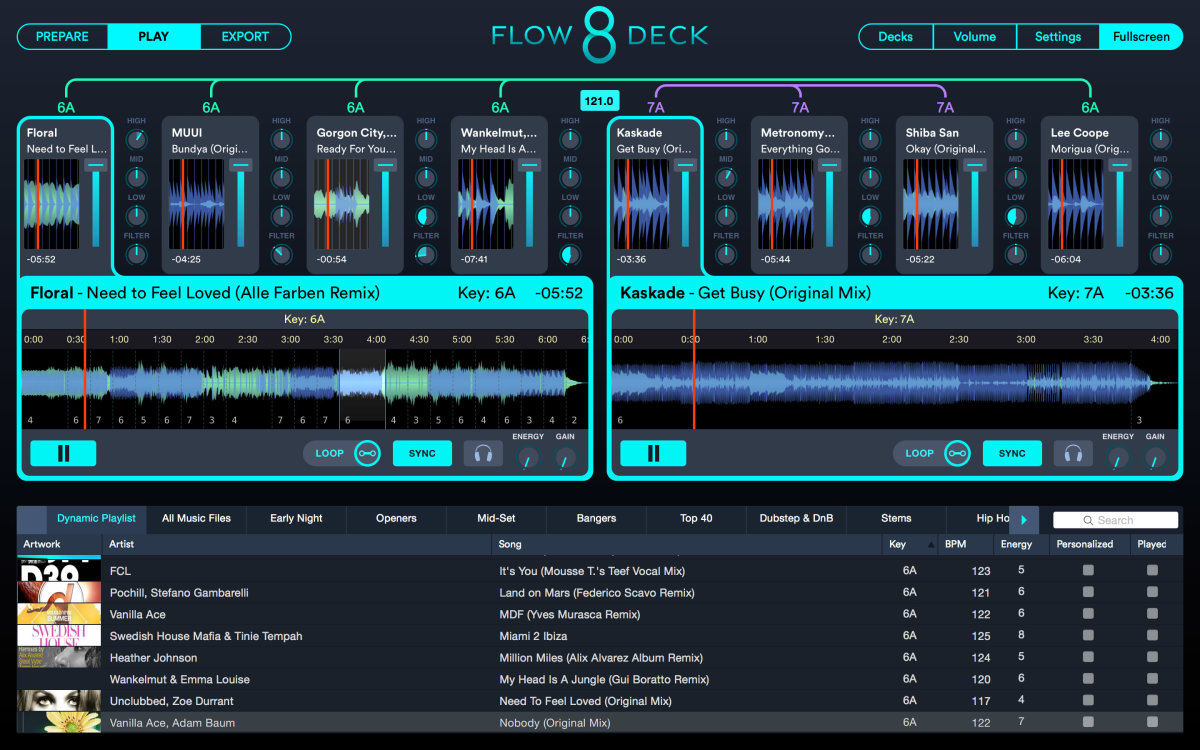 flow 8 deck layout