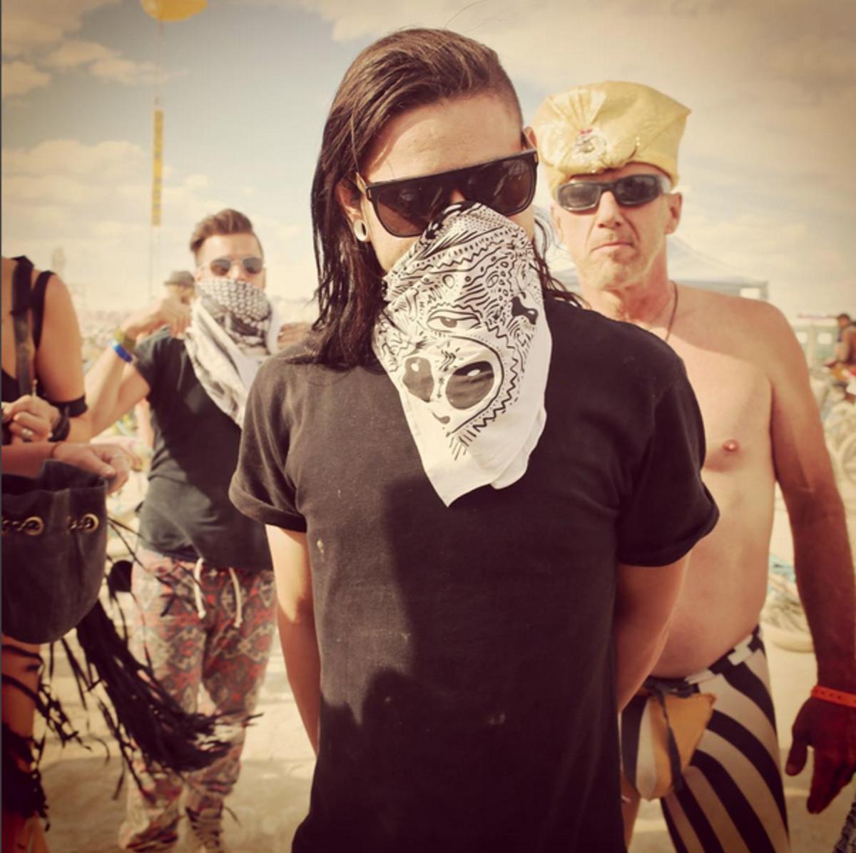 Skrillex at Burning Man