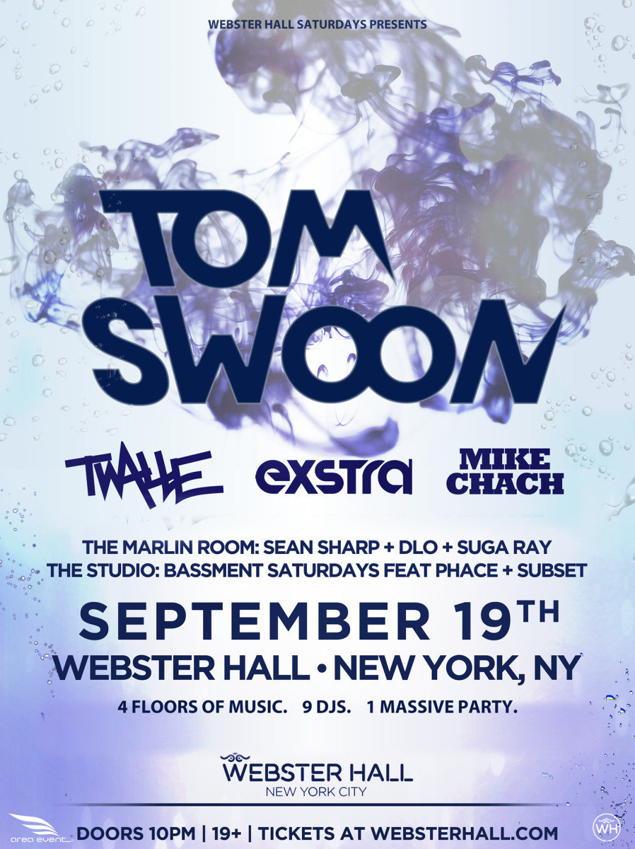 Tom Swoon Flyer Webster Hall