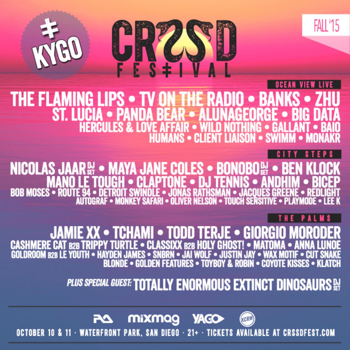 CRSSD fest full lineup