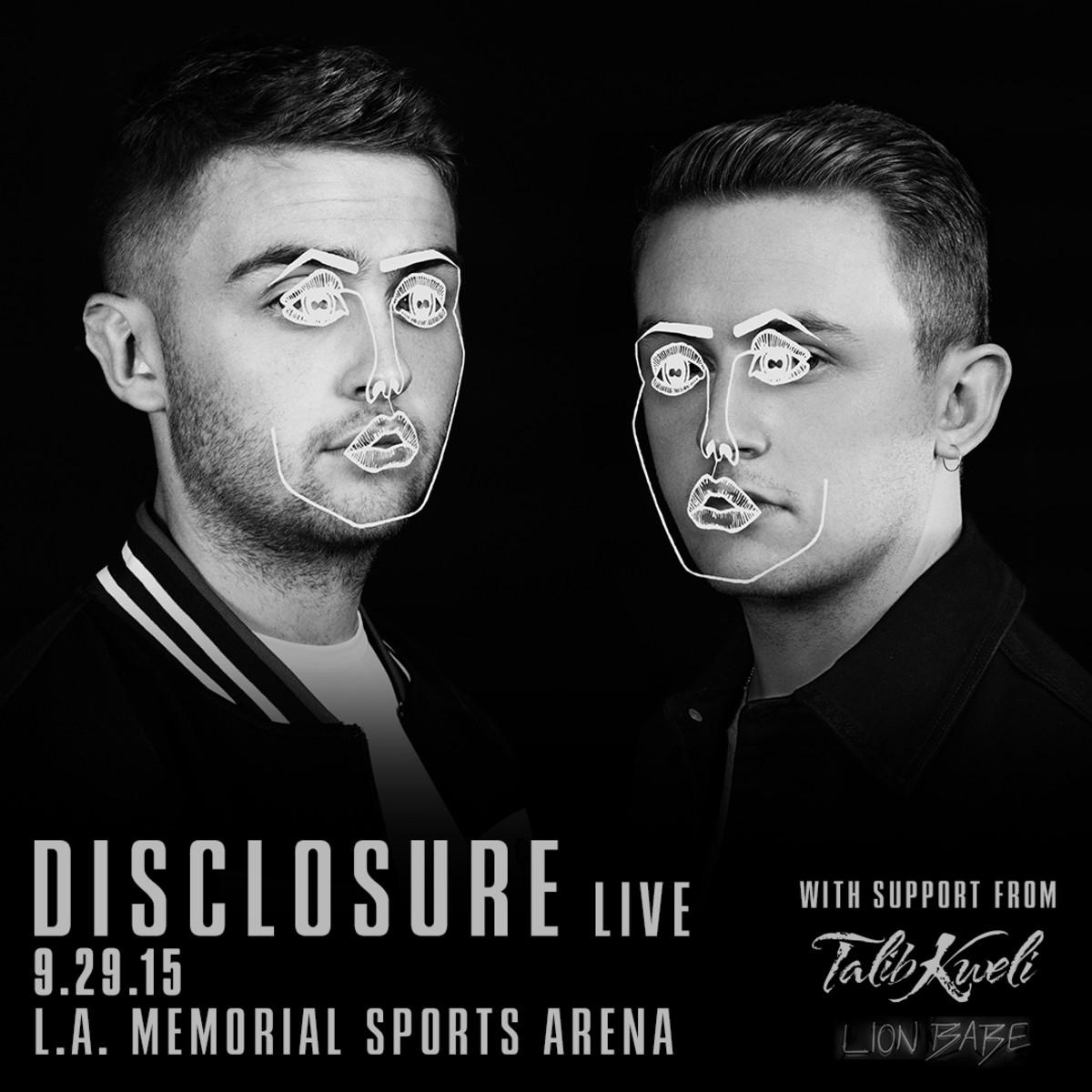 Disclosure LA Concert Flyer