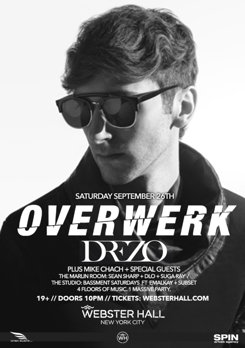 Overwerk and Drezo This Saturday at Webster Hall NYC