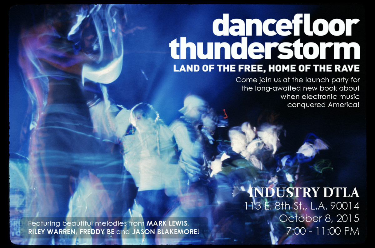 Dancefloor Thunderstorm Party Flyer