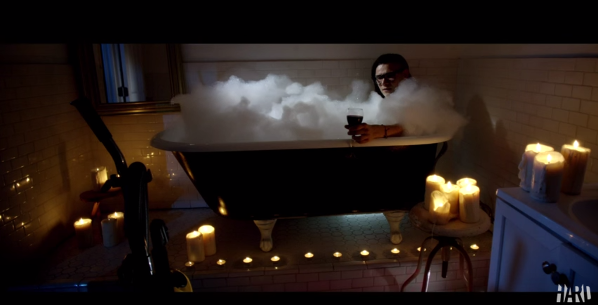 Skillex in a bathtub Hard Day of the dead trailer
