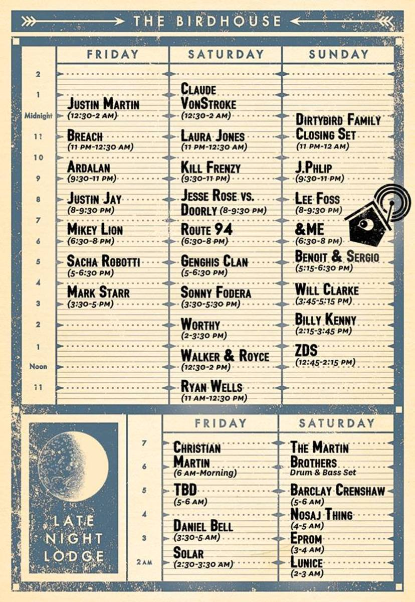dirtybird records schedule