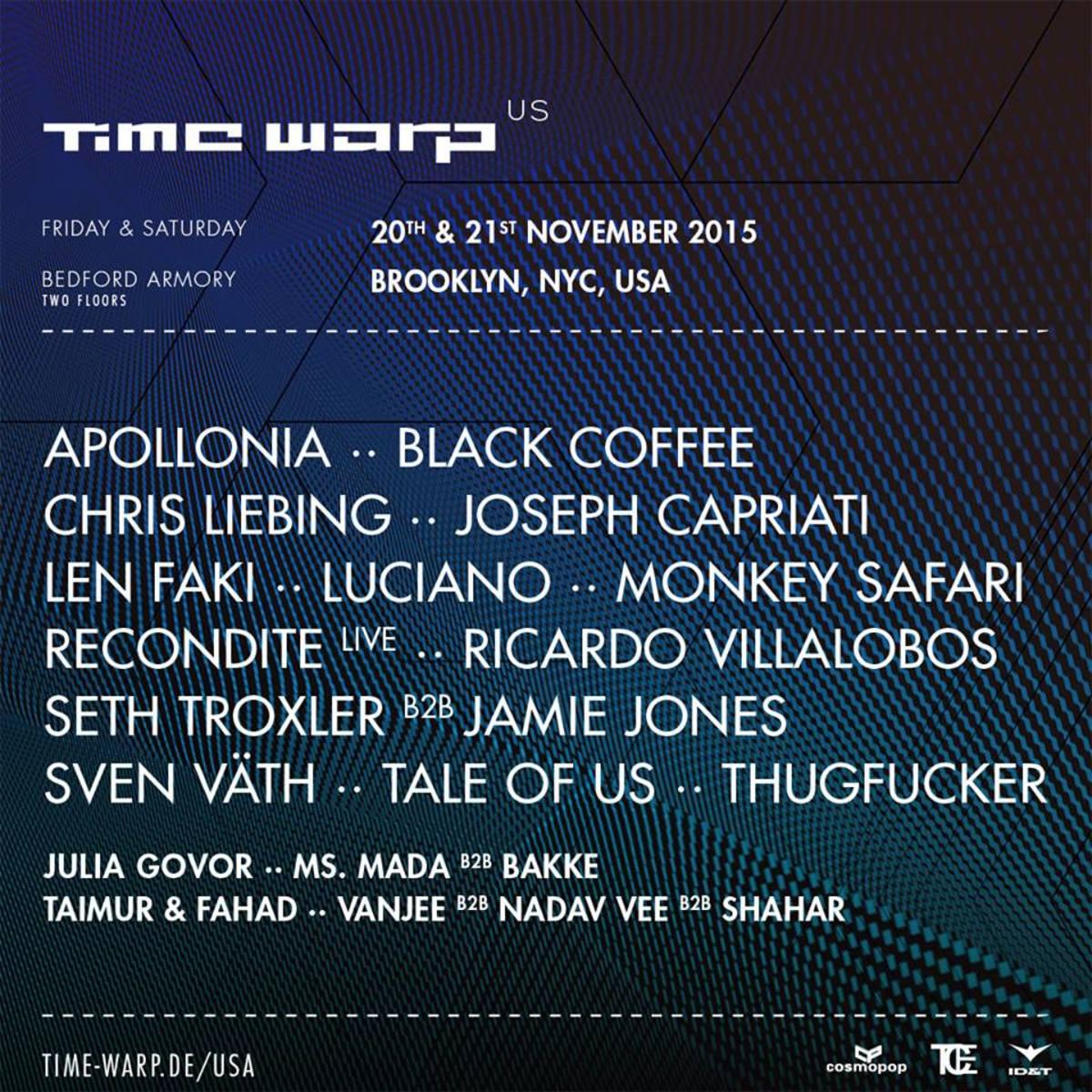 time warp lineup