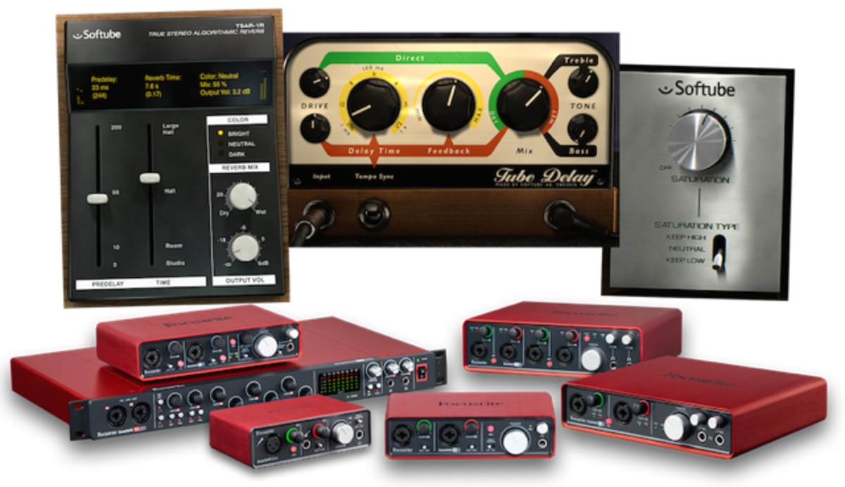 focusrite 39 s audio interfaces now come with softube 39 s time and tone bundle magnetic magazine. Black Bedroom Furniture Sets. Home Design Ideas