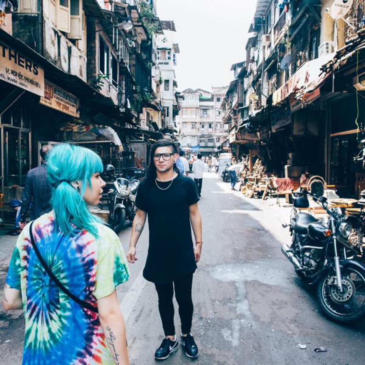 Skrillex with Mija in India.