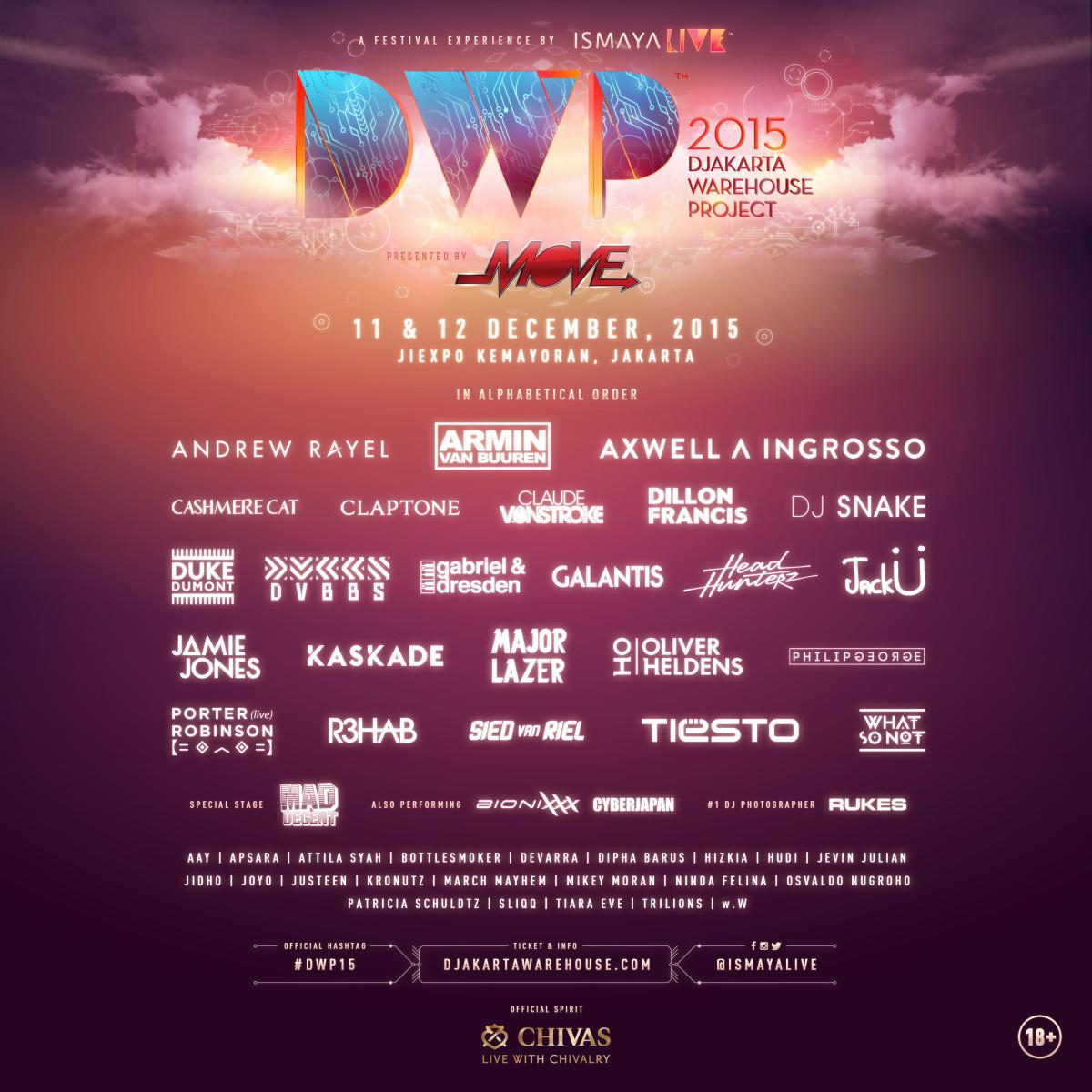Djakarta Warehouse Project lineup
