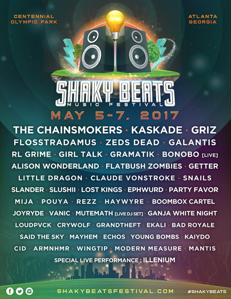 ShakyBeats 2017 Flyer