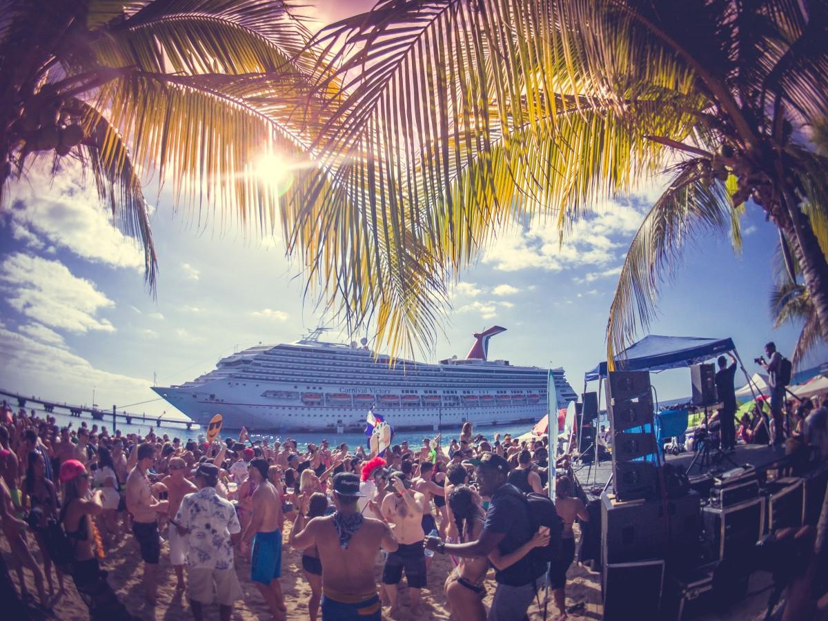 Grand Turk beach party