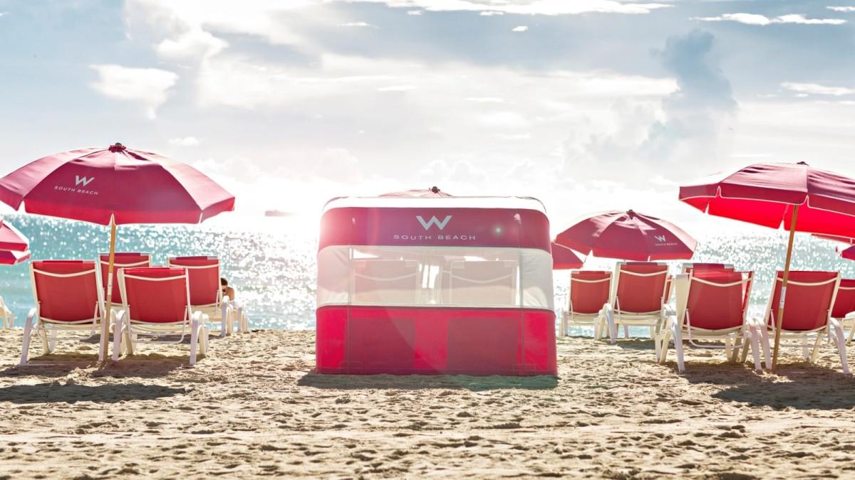 W beachside cabana