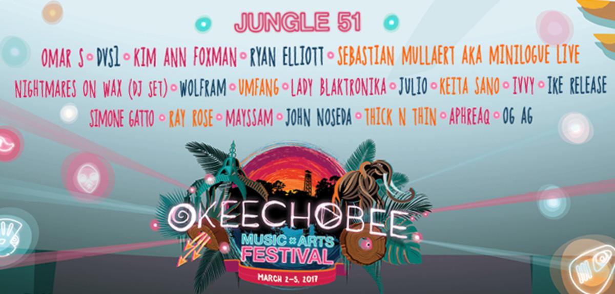 Jungle 51 Lineup Okeechobee Music & Arts Festival