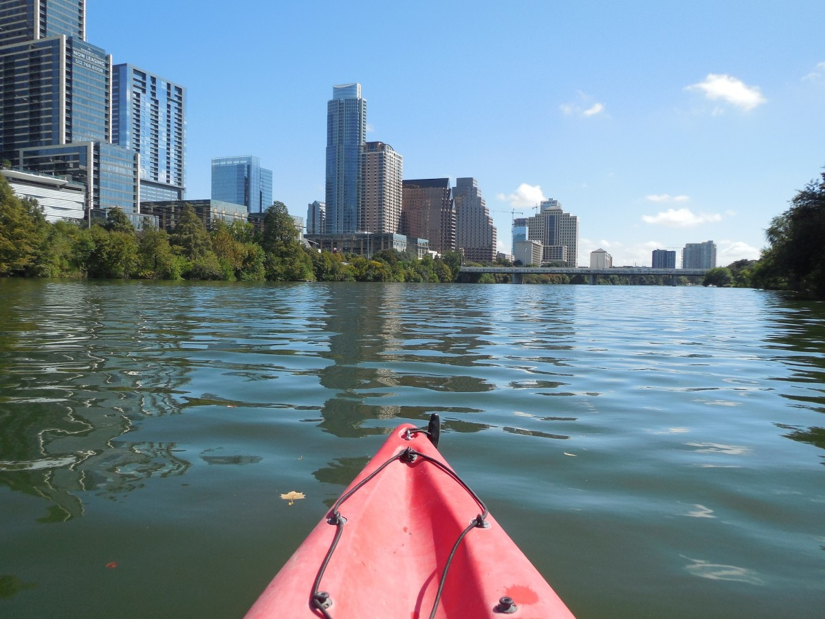 Kayak View of Downtown Skyline