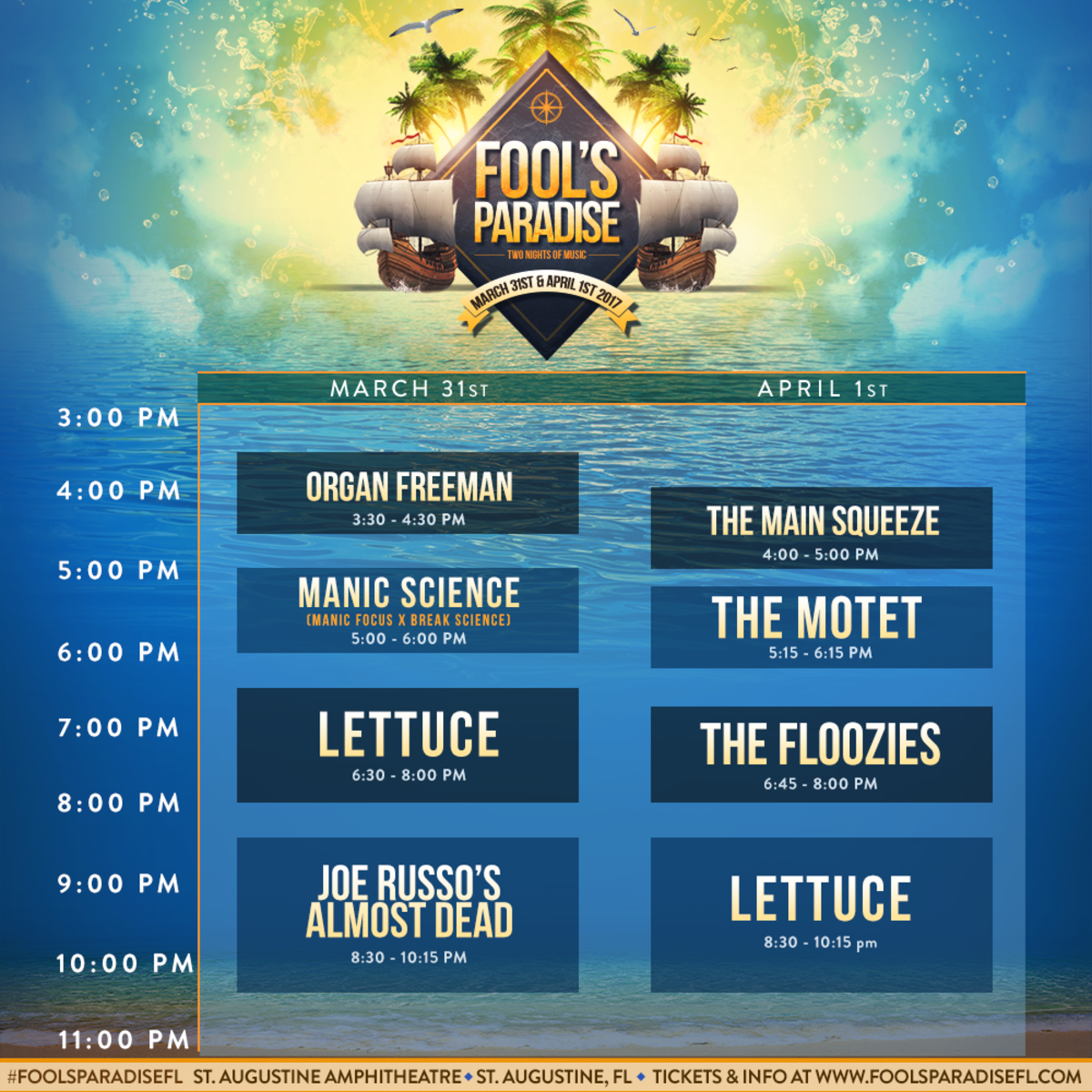 Fools Paradise Lineup
