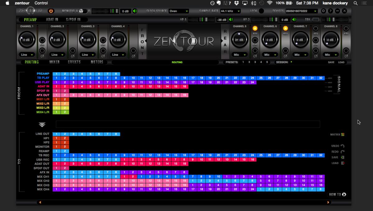 Zen-Tour-Routing-Matrix