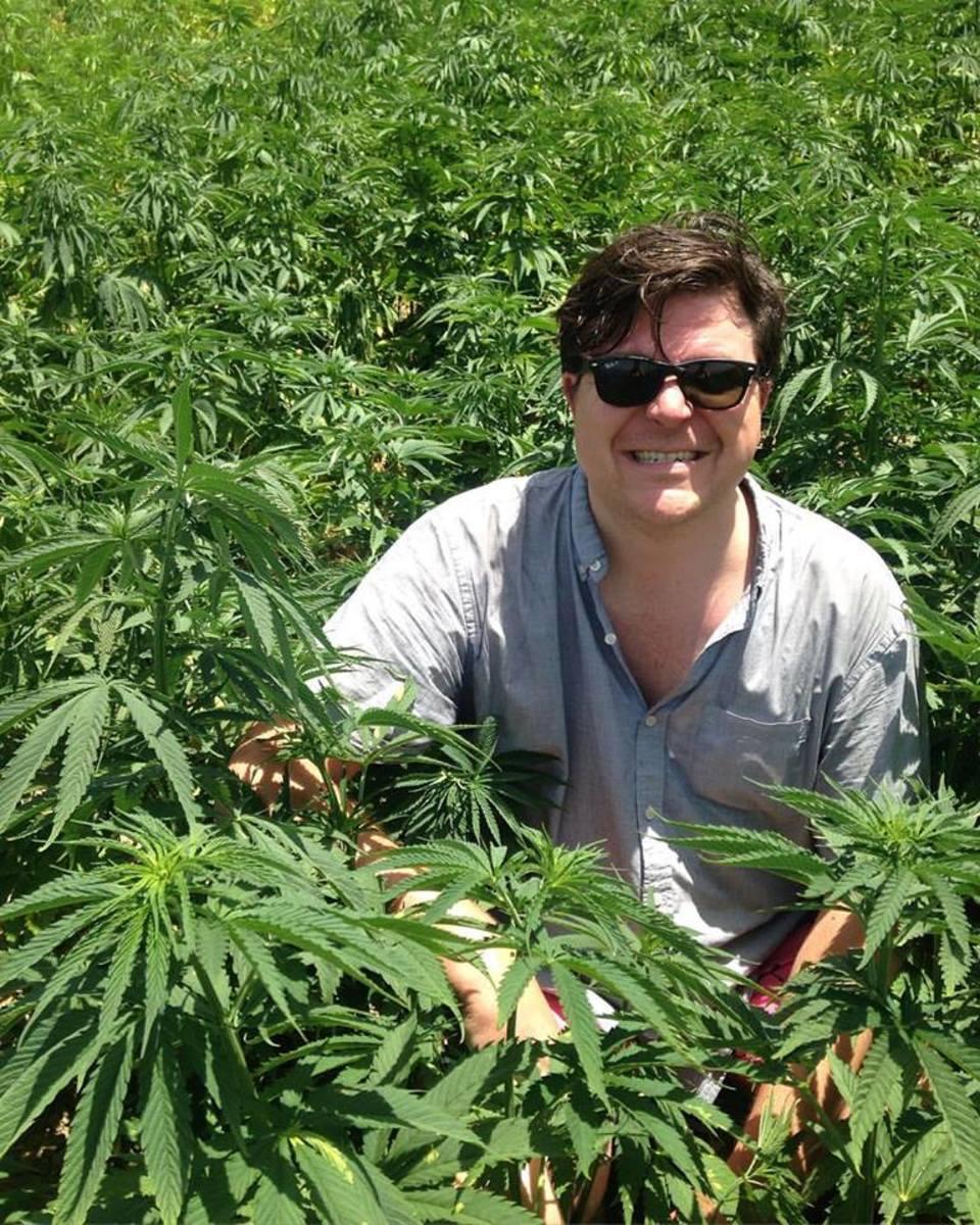 ricardo baca in moroccan weed fields near chefchaouen