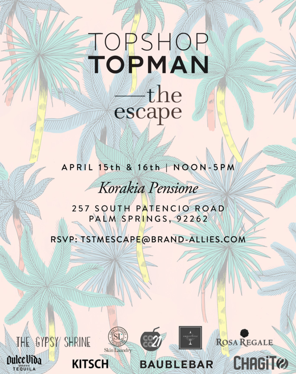 Take a breath, sit back and relax...The Topshop Topman Escape has you in its grasp.