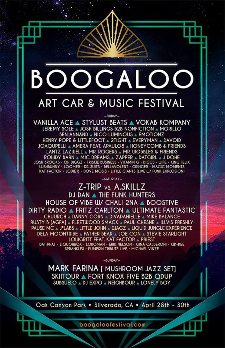 Boogaloo lineup