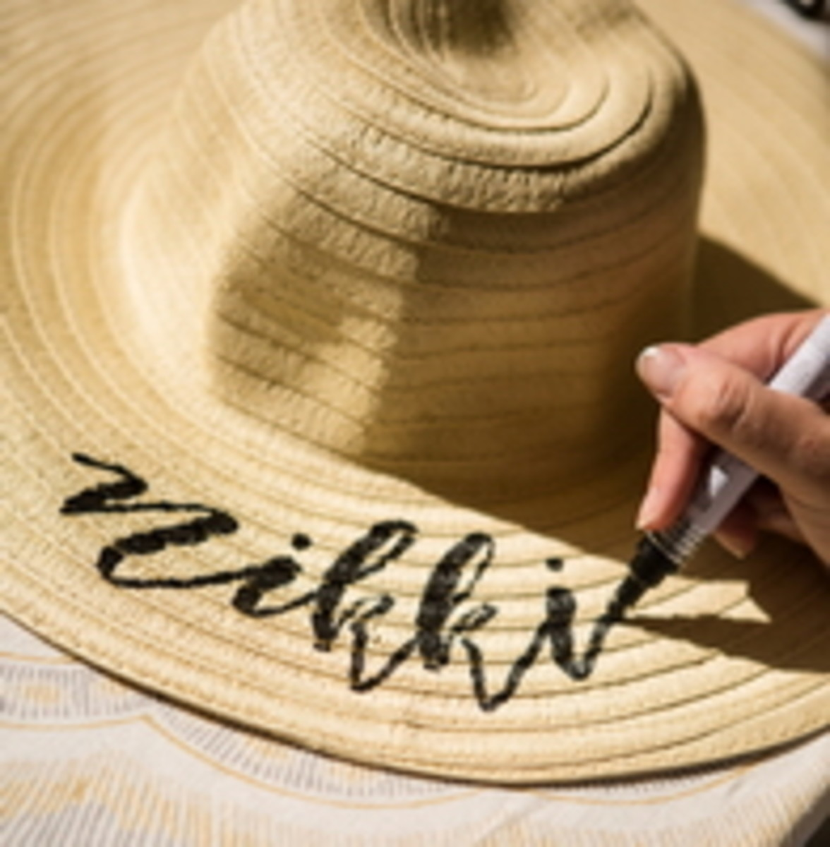 "we couldn't wait for ours but ""Nikki,"" your hat's ready!!!"