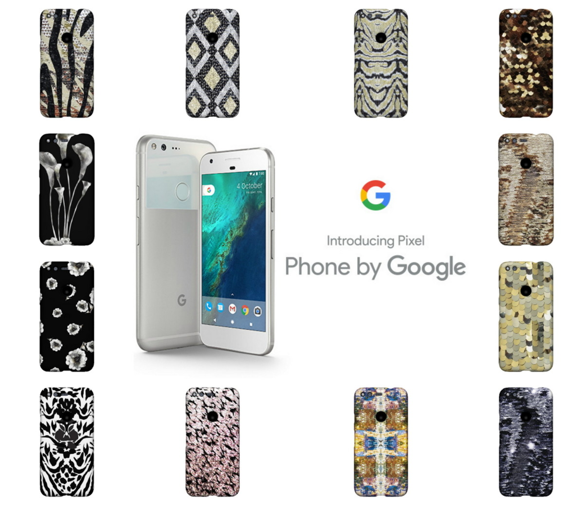 12 Rachel Zoe Live Case designs to choose from and only available for Google phones.